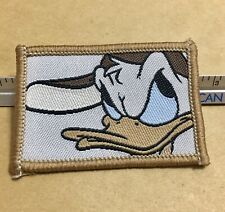Donald Duck Hat On Side With Attitude Brown Rectangle Disney Patch New Old Stock