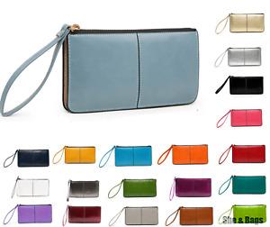 Womens Zip MultipocketDesign Handbag Case Purse Wallet Pouch Wristlet Bag