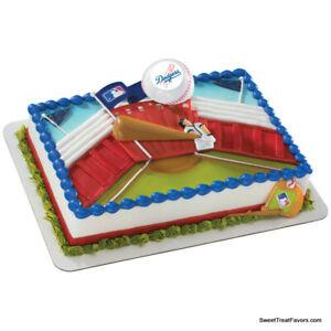 DODGERS Los Angeles Baseball MLB Cake Topper Decoration Supplies Sports Cupcake