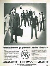 D- Publicité Advertising 1969 Pret à porter costume homme Armand Thiéry Sigrand