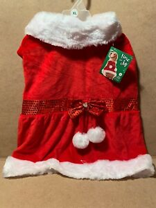 Time For Joy XLarge Mrs. Claws Costume For Dogs Holidays Xmas