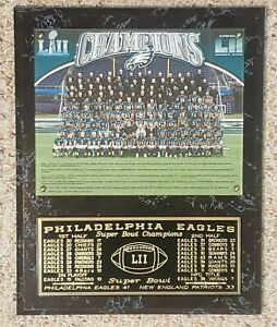 "Philadelphia Eagles 2017-2018 Super Bowl 52 Champions 12"" X 15"" Plaque LII"