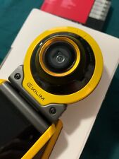 Used Casio Exilim EX-FR100 Self-Portrait Action Digital Camera Yellow