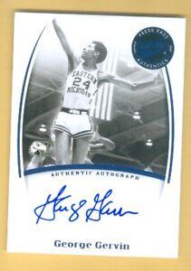 2007-08 Press Pass Legends HOF'er GEORGE GERVIN Autograph ICEMAN! SPURS!
