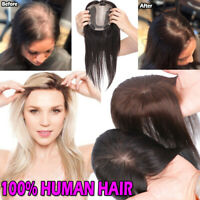 Frontal Silk Base MONO TOP Piece 100% clip in remy human hair Topper For Women Y