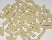 LEGO LOT OF 50 NEW TAN 1 X 2 X 5 PILLARS BUILDING BLOCKS PIECES