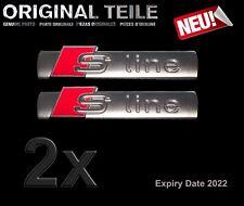 2 x Neu Original Audi S Line Emblem  OVP 2022 Expiry date