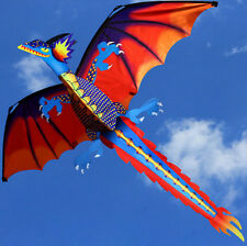 New Classical Dragon Kite 140cm x 120cm Single Line With Tail and flying tool