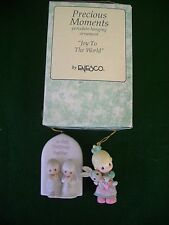 "3 Three Precious Moments Orn w/1995 ""Joy To The World ""First Christmas, baby"