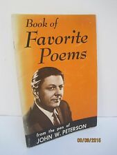 Book of Favorite Poems by John W. Peterson Vintage 1970