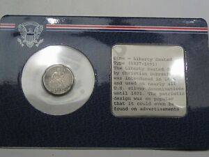 1887 Seated LIBERTY Dime in Littleton Holder.  #21