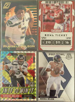 (4)2020 Panini Zenith, Contenders, Mosaic RUSSELL WILSON Awesome SP Lot Seahawks