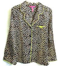 Betsey Johnson Sleepwear PJ' s Top  Size M 1 Pc - Animal Print  Long Sleeves New