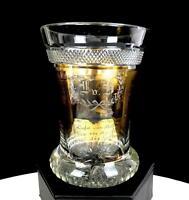 "KOTHGASSER BIEDMEIER AUSTRIA CUT GLASS GILDED BEETHOVEN 4 1/4"" BEAKER 1780-1825"