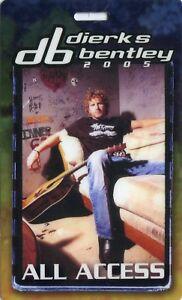 DIERKS BENTLEY 2005 Drifter Concert Tour Laminate Backstage Pass!!! Authentic