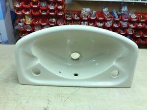 Barrhead Tiree 460mm, 2 tap hole option Cloakroom Basin in Ivory
