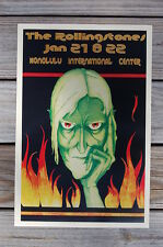 The Rolling Stones Poster 1973 Tour Honolulu Internaional Center