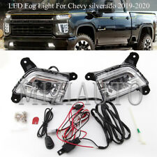 Front Bumper LED Fog Light Lamp For Chevy silverado 2019 2020 DRL Switch Wiring