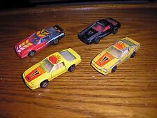 RARE Lot of 4 Vintage Yatming Road Champs 1980's Chevy Camaro Z-28 IROC Coupes