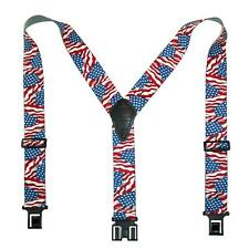 New Perry Suspenders Men's Elastic American Flag Suspenders (Tall Available)