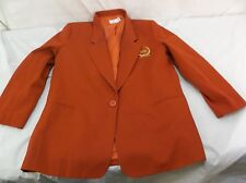 Red Mary Kay Dress Jacket Coat Single Button Blazer by Angelica 16Regular 140206
