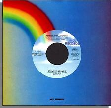 """Steve Wariner - There For Awhile + Why Do The Heroes Die So Young - 7"""" 45 RPM!"""