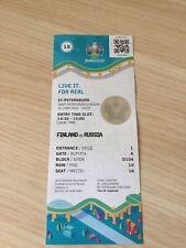Билет Финляндия- Россия EURO 2020 Чемпионат Европы по футболу 16.06.2021 год.