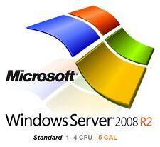 Microsoft Server 2008R2 Standard (1- 4 CPU, 5 CAL) Licenza e DVD - NUOVO