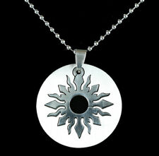 316L Stainless Steel Tribal Sun Necklace Pendant & 60cm Ball Chain