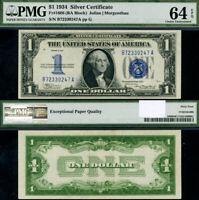 FR. 1606 $1 1934 Silver Certificate B-A Block Choice PMG CU64EPQ