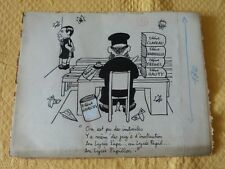 "Lot de 5 planches originales ""Dessins/Caricatures de Jean EFFEL"""