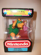 RARE Vintage Nintendo Super Mario Trofeo Figura ~ Bowser Principessa Toadstool Nuovo con Scatola