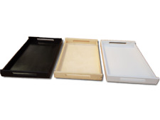 Wooden Tea Meal Serving Tray Waiter Tableware Bar Dining Kitchen Caddy 64x40cm