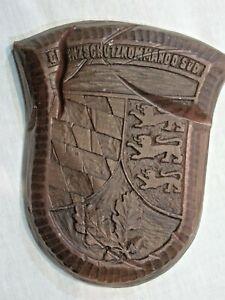 Bundeswehr Grenzschutzkommando SÜD Verbandsabzeichen Wappen Wachs - Sammlerstück