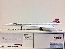 Herpa Wings British Airways Concorde 1:500 G-BOAB 507035