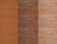 HO Scale Brick Building Papers w/ Dk. Red Dk. Calico Lt. Calico 15 8.5x11 Sheets