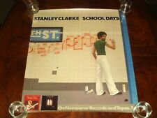 "Ultra Rare STANLEY CLARKE ""SCHOOL DAYS"" 1976 NEMPEROR RECORDS PROMOTIONAL POSTER"