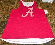 """NEW"" Alabama Crimson Roll Tide NCAA ~ Metallic Foil ~ SHIRT Tank Girl's L 10 12"