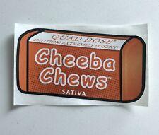 "(1) Cheeba Chews ""Orange Quad Dose Sativa"" Sticker Slap"