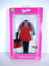 NEW BARBIE DOLL FASHIONS 1995 FASHION AVENUE BOUTIQUE RED JUMPER STRIPED  14980