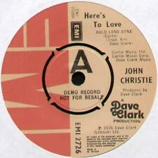 """[DAVE CLARK] JOHN CHRISTIE ~ HERE'S TO LOVE (AULD LANG SYNE) ~ 1977 UK """"DEMO"""" 7"""""""