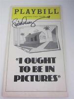 Playbill Orig Broadway I Ought To Be In Pictures Lucie Arnaz Signed COA Lucille