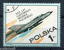 POLOGNE 1973, timbre 2116, ARMEE POLONAISE, AVION, oblitéré