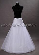 A-line  Lycra Waistband WEDDING PETTICOAT/ONE HOOPED PROM UNDERSKIRT/SKIRT