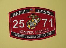"USMC ""SPECIAL RADIO OPERATOR"" 2571 Semper Fidelis Marines MOS MILITARY PATCH"