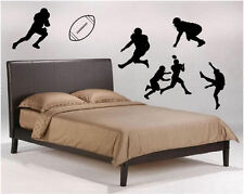 Football players and ball 6 pieces total Vinyl Wall Decal Sticky Decor Letters