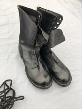 "CORCORAN 1500 Black Leather 12 Eye 10"" Jump Combat Military Boots SZ 9.5 D."