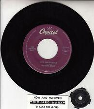 "RICHARD MARX Now And Forever 7"" 45 rpm vinyl record + juke box title strip RARE!"