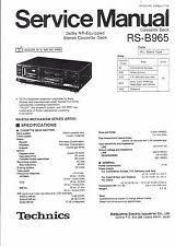 Technics Service Manual für RS-B 965