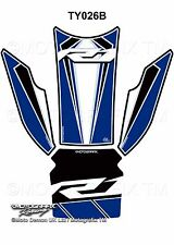 Yamaha R1 R1M 2015 16 17 Blue Motorcycle Tank Pad Motografix 3D Gel Protector